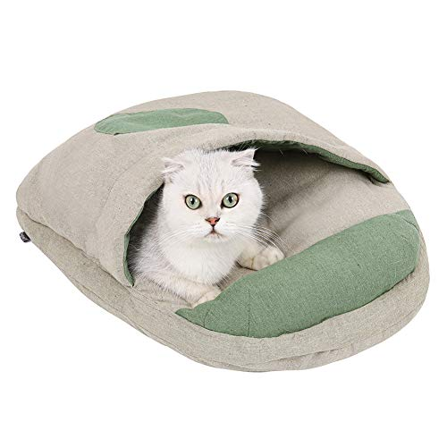 WANGYING Color de empalme lavable, accesorios para mascotas, con cojín, cachorro, gatito, nido, perrera, invierno, suave, cama para dormir para casa para perro