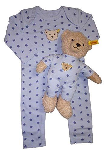 STEIFF Ensemble Pyjama avec étoiles et Ourson pour garçon - Bleu - 9 Mois