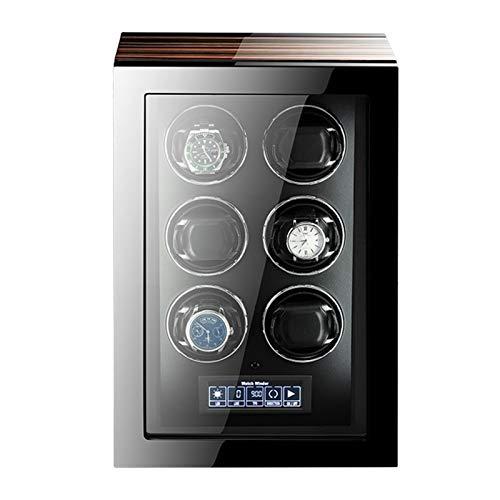 AYYEBO 4/6/9 Enrollador Reloj para Relojes Automáticos con Retroiluminación LED Pantalla LCD Táctil Control Remoto para Hombres Mujeres Regalo (Size : 6+0)