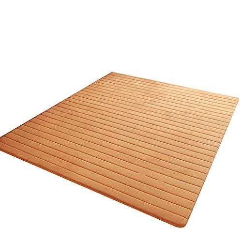 LYQZ Dicke bodenmatte Wohnzimmer couchtisch Flur Teppich Nette Tatami balkonmatte benutzerdefinierte (Farbe : Brown, größe : 100 * 800cm)