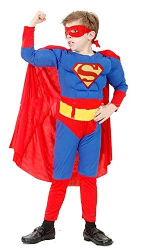 Kostuum - kind - 4/6 jaar - jurk - carnaval - superhelden - warm - spieren - lengte - kind 1-10 - 120 cm - origineel idee voor een verjaardagscadeau superman