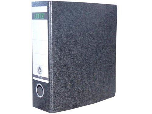Leitz 10750000 Qualitäts-Ordner (für Sonderformate, A5 (hoch), 8 cm Rückenbreite, Hartpappe (RC)) schwarz