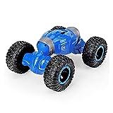 4WD 2.4GHz RC Suber Coche para niños 1:16 Radio de Alta Velocidad Control Remoto Off Road Buggy Twist RC Stunt Cars Modelo Boys Toy (Color : Azul)