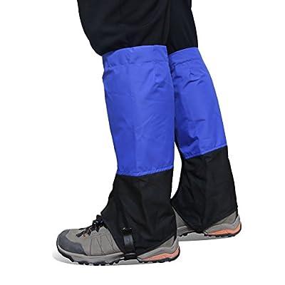 Play Tailor 1 Pair Waterproof Gaiters Footwear for Walking Hiking Running Hunting Skiing, Durable TPU Strap and 500D Nylon Material