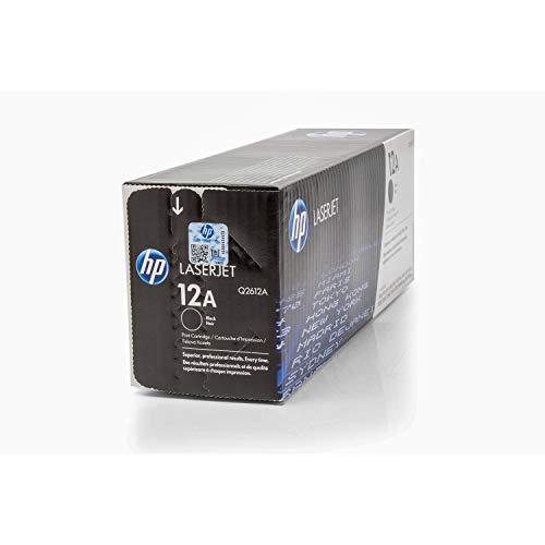 HP Q2612A / 12A - Cartucho de tinta original para impresora Laserjet 1010 (2000 páginas), color negro