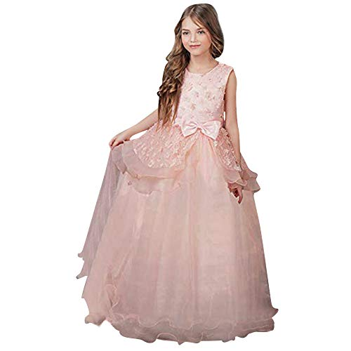 riou Vestido de Princesa del Desfile con Encajes sin Mangas Falda de Fiesta para Nias Tutu Vestidos Baile de graduacin Vestido de Novia Princesa Fiesta de Cumpleaos Vesti