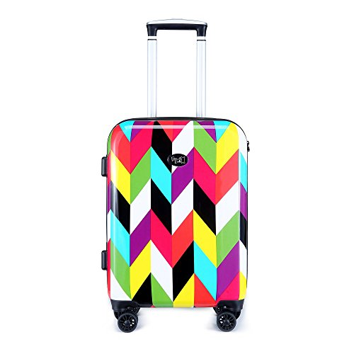 Ziggy 20-inch Hardside Carry-on Spinner Luggage, TSA-Approved Lock, Hard-Case, Rolling Suitcase