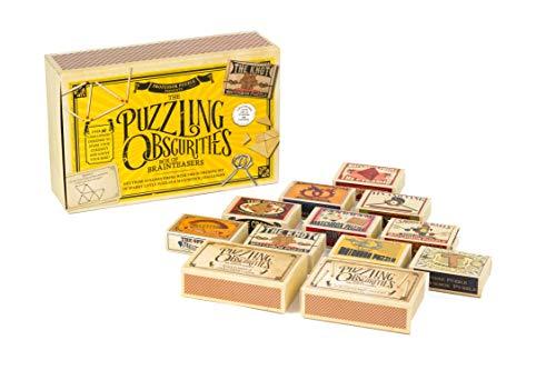 Professor PUZZLE Puzzling Obscurities Brainteaser-Box, gelb, Einheitsgröße