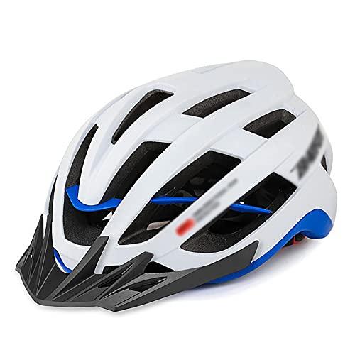 G&F Casco de Ciclismo MTB Bicicleta Casco con Parasol Respirable Casco Bicicleta para Mujeres Hombres (Color : White, Size : 58-60)