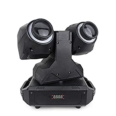 InLoveArts Dual Beam Moving Head Lights Disco Light Effect 4 Units, X-Infinite Rotation Y-180°Rotation with Speed Control