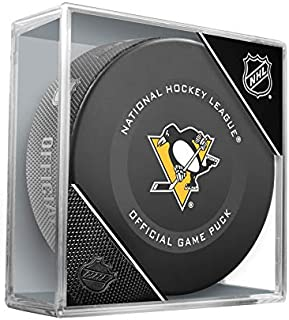 Pittsburgh Penguins Inglasco Official NHL Game Puck in Cube - New 2019
