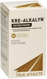 True Athlete Kre Alkalyn 1,500mg Helps Build Muscle, Gain Strength Increase Performance, Buffered Creatine NSF Certified for Sport (120 Capsules)