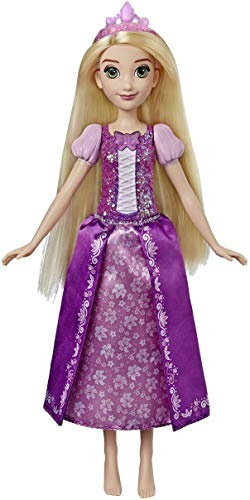 Hasbro Disney Principesse E3149RG2 - Carillon magico Rapunzel, bambola musicale con top luminoso, multicolore