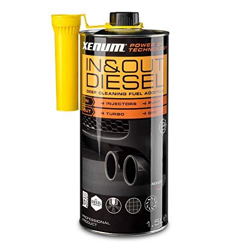 XENUM IN & OUT Cleaner Diesel 1,5 L Reinigungsadditiv Tankzusatz Doppelwirkung Kraftstoff- und Abgassystem Reinigung von Dieselpartikelfilter Turbokompressor Injektoren Einspritzdüsen