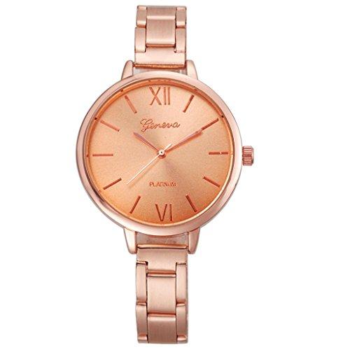 Xinantime Relojes Pulsera Mujer,Xinan Pequeña Banda de Acero Relojes Cuarzo Analógicos (Oro Rosa)