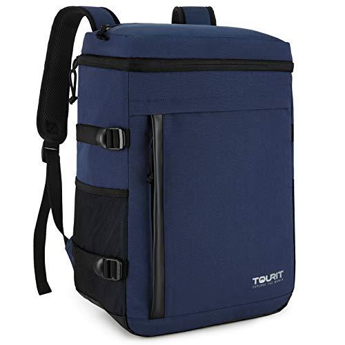 TOURIT Cooler Backpack 32 latas de gran capacidad aislada mochila enfriadora bolsa para hombres y mujeres a picnic, senderismo, camping, pesca