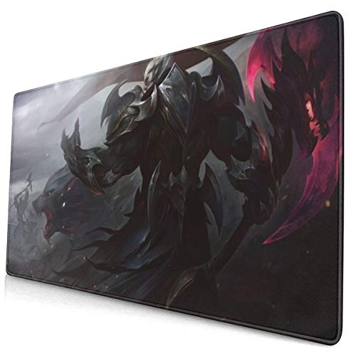 """Large Mouse Pad for League of Legends Darius with Stitched Edges Gaming Mouse Mat Non-Slip Rubber Base Mousepad for Laptop,Computer,PC,Keyboard,11.8""""x23.6"""""""