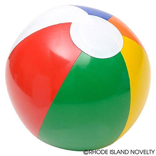 """Rhode Island Novelty Inflatable 12"""" Rainbow Color Beach Balls (12 Pack) - Colors Varied"""