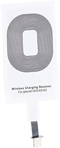 Callstel Qi Receiver: Receiver-Pad kompatibel mit iPhone 5c, 5s, 6, 6s, 6s Plus, 7, 7s, 7 Plus, SE (Wireless Charging Receiver iPhone)