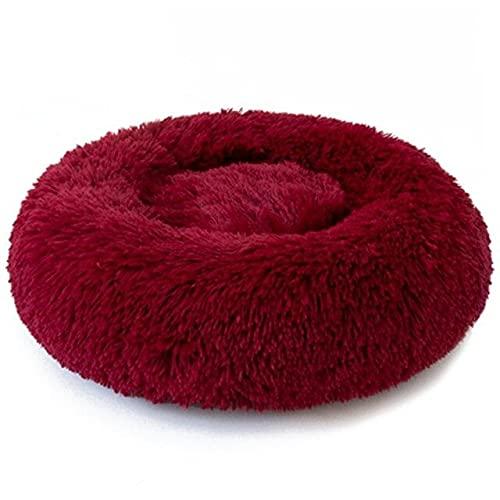 Cama de gato redondo Casa suave de felpa larga mejor mascotas camas para perros cesta productos para mascotas cojín gato gato Mat animales dormir sofá