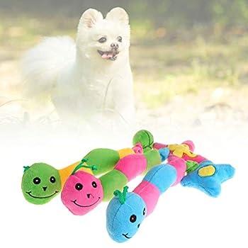 Ogquaton Pet doux en peluche à long ver insecte grincant sonore interactif chien chat chiot à mâcher jouet nouveau publié