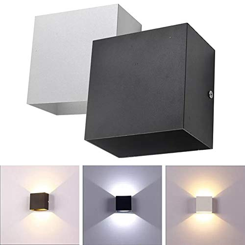 Wandlamp, LED, wandlamp, bedlamp, slaapkamer, wand, Art Deco-Black_6W_Cold_White_6000 K