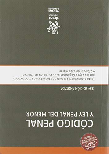 Código Penal y Ley Penal Del Menor 28ª Edición anotada 2019 (Textos Legales)