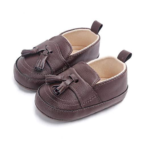 YZLSM Unisex-Baby-mädchen Pu-Leder-Schuhe Antiskid Sole Quaste Schuhe Mokassins Krippe Schuhe Indoor Prewalker Schuhe Kaffee 11cm Kinderversorgung