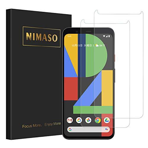 【2枚セット】 Nimaso Google Pixel 4 用 強化ガラス液晶保護フィルム 貼り付け簡単/気泡ゼロ/高硬度/高透過率