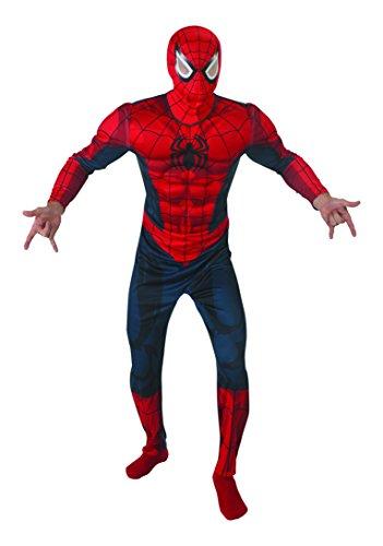 Rubie's 3888869 - Spider-Man Deluxe - Adult, Action Dress Ups und Zubehör, XL
