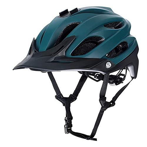 PIANYIHUO Casco de ciclistaCasco de Ciclismo Casco Ultraligero para Bicicleta de Carretera Casco para Deportes al Aire Libre Casco para Montar en Bicicleta Hombres Mujeres, Verde Oscuro