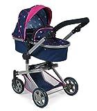 Bayer Chic 2000 595 72 Mika - Carrito para muñecas, color azul marino y rosa