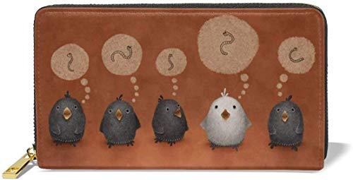 naotaori Cartera de Mujer Women's New Card Holder Wristlets Wallets Chick Thinking