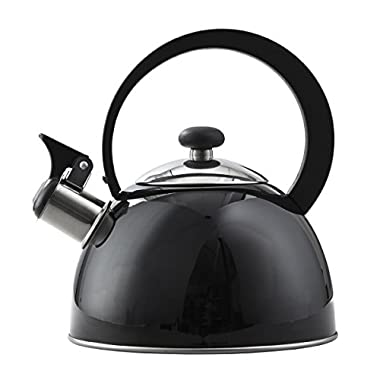 Copco 2503-1405 Kettering Stainless Steel Tea Kettle, 1.3-Quart, Black
