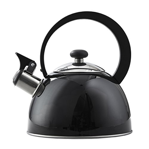 Copco 2503-1405 Kettering Hervidor de te de acero inoxidable, 1.3 cuartos de galon, negro