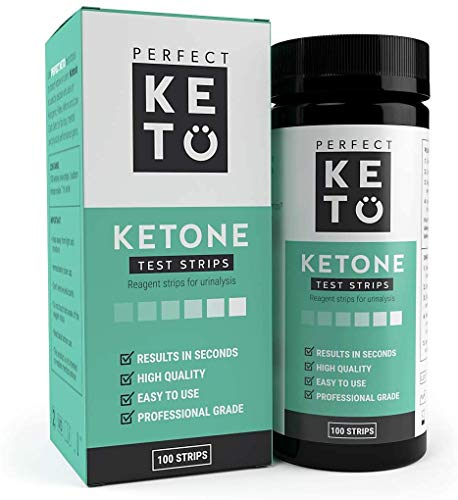 Perfect Keto Test Strips - Best for Testing Ketones in Urine on Low Carb Ketogenic Diet, Ketosis Home Urinalysis Tester Kit, 100 CT by Perfect Keto