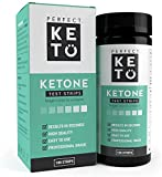 Perfect Keto Test Strips - Best for Testing Ketones in Urine on Low Carb Ketogenic Diet, Ketosis Home Urinalysis Tester Kit, 100 CT
