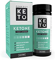 commercial Perfect Keto Test Strip-Great for testing urinary ketones on a low carb ketogenic diet, ketosis … true plus ketone