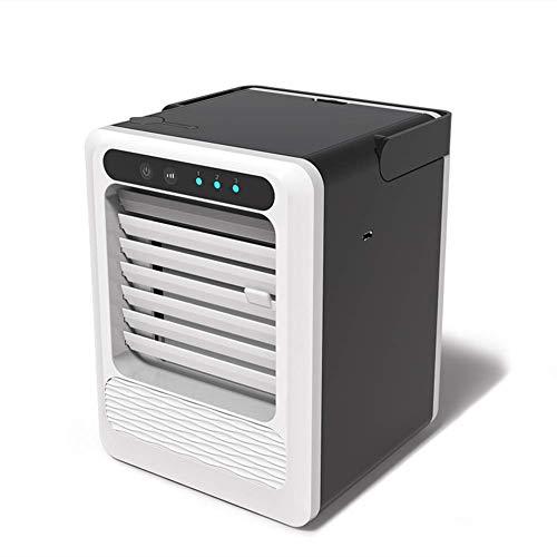 Zambista Ventilador de aire acondicionado portátil, mini enfriador de aire personal, enfriador evaporativo de bajo ruido Ventilador de enfriamiento de espacio rápido para oficina en casa al aire libre