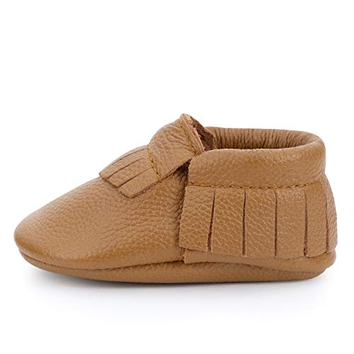 BirdRock Baby Moccasins - 30+ Styles for Boys & Girls! Every Pair Feeds a Child (US 5.5, Brown)