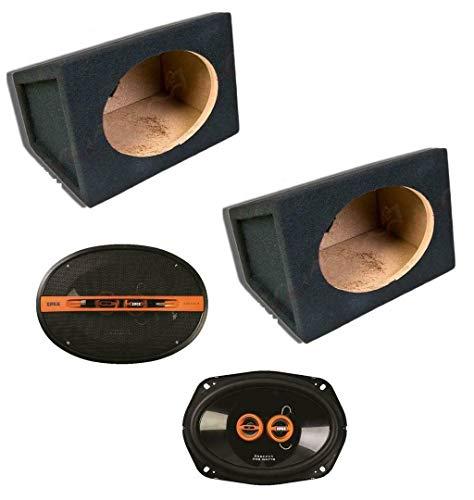 Inex Edge 6x9 3 way 200w Car Speakers with MDF 6x9 6 x 9 Speaker Box...