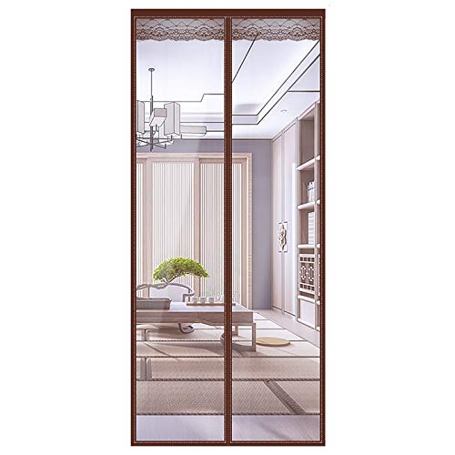 TYCIA Magnetic Insulated Door Curtain 31x79Inch, Transparent Soundproof Curtains Easy to Install, Fit Perfectly, for Balcony Sliding Doors Living Room Patio Door - D