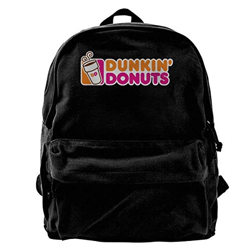 Husimy Rucksäcke,Schultaschen,Canvas Backpack Dunkin Donuts Logo Rucksack Gym Hiking Laptop Shoulder Bag Daypack for Men Women