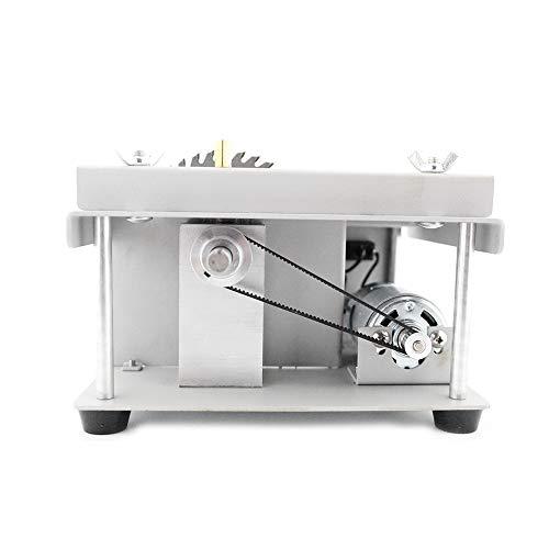 VISLONE Sierra circular de mesa multifuncional de 150 W, cortadora eléctrica con hoja de sierra, ajuste de ángulo con velocidad ajustable, 40 mm