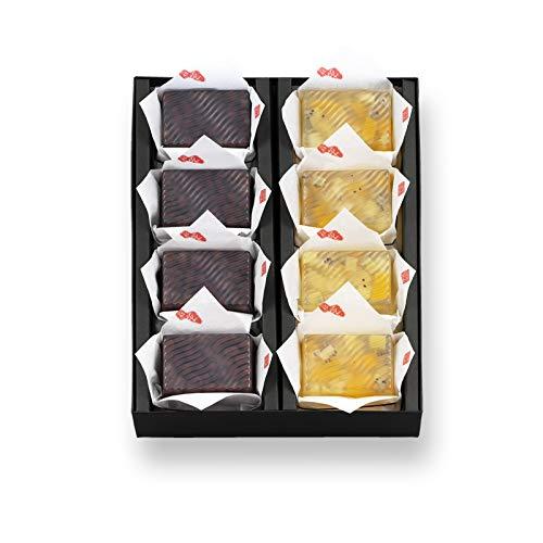 長岡京 小倉山荘【明月菓寮】水かんてん 8個箱(小豆4個・フルーツ4個)