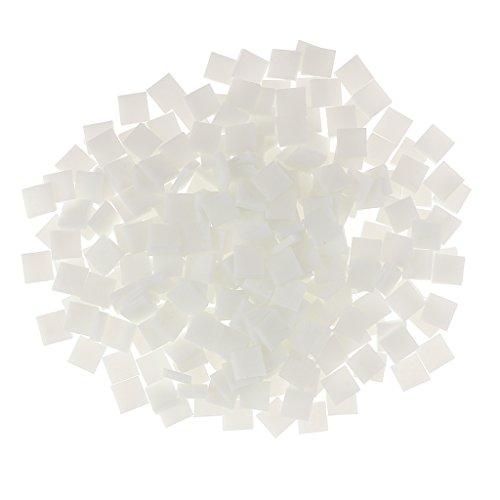 250 Stück Fliesen Mosaik Mosaikfliese Quadrat Bad Pool Glas - Weiß
