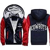 AEH Sudaderas Cazadoras Dallas Cowboys-Invierno Ocasional Postal Caliente De Los Hombres De Fútbol Sudadera Sudadera Pulover,C-5XL