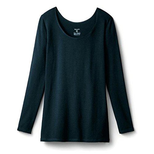 [ベルメゾン] あったかインナー・綿混長袖レディース ブラック サイズ:M