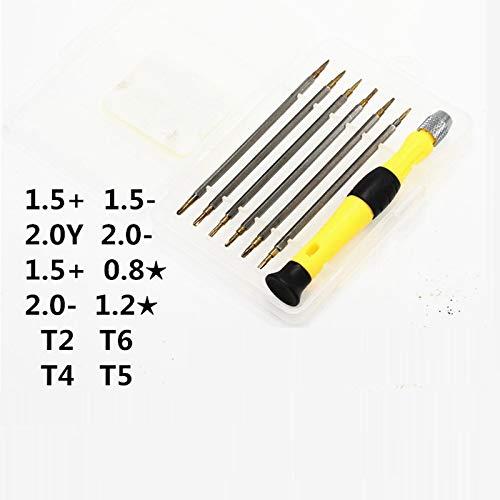 MLLSD Juego de Destornilladores Dobles de 12 Cabezas 6 en 1 Destornillador Torx T2 T6 T4 T5 de Ranura en Cruz Destornillador de reparación de Bricolaje casero