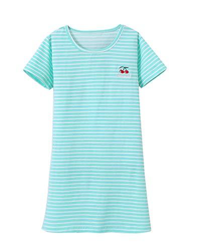 DianShaoA Prinzessin Netter Druck Nachthemden Für Mädchen Kurzarm Kinder Schlafanzüge Für 3-12 Jahre 86528Grün 110
